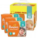 Maxi Pack de 348 Couches Pampers de Sleep & Play sur auchan
