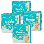 138 Couches Pampers Baby Dry taille 7