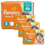 Giga Pack 252 Couches Pampers Sleep & Play sur auchan