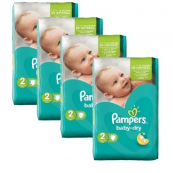 168 Couches Pampers Baby Dry