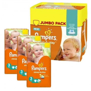 328 Couches Pampers Sleep & Play taille 3