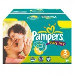 Mega Pack 374 Couches Pampers de Baby Dry sur auchan