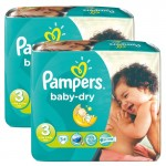 Maxi Pack 170 Couches de Pampers Baby Dry sur auchan