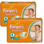 108 Couches Pampers Sleep & Play taille 4