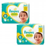 124 Couches Pampers new baby - premium protection taille 4+