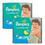 Mega Pack 108 Couches Pampers Active Baby Dry sur auchan