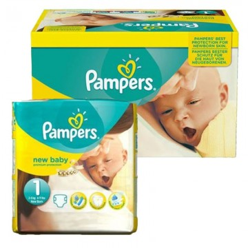 92 Couches Pampers new baby - premium protection taille 1