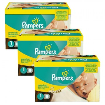 506 Couches Pampers new baby - premium protection taille 1