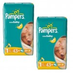 86 Couches Pampers New Baby Dry taille 1