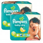 102 Couches Pampers Baby Dry sur auchan