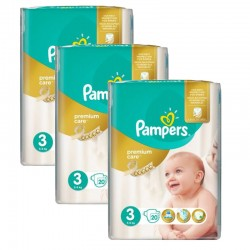 60 Couches Pampers Premium Care - Prima taille 3