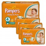 252 Couches Pampers Sleep & Play taille 4