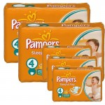 324 Couches Pampers Sleep & Play taille 4