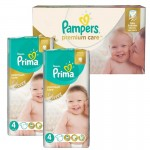 Mega Pack 120 Couches de Pampers Premium Care sur auchan