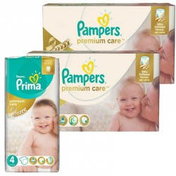 320 Couches Pampers Premium Care - Prima taille 4