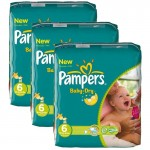 Pack de 132 Couches Pampers Baby Dry sur auchan
