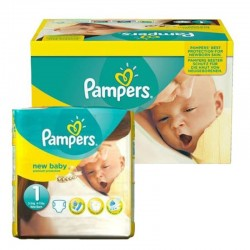 96 Couches Pampers New Baby Premium Protection taille 1