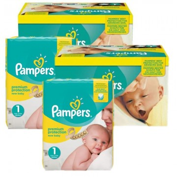 384 Couches Pampers New Baby Premium Protection taille 1