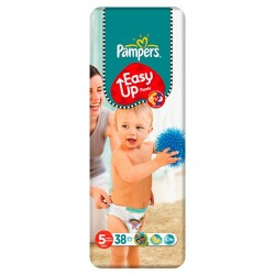 38 Couches Pampers Easy Up taille 5