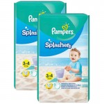 Mega Pack de 36 Couches Pampers Splashers sur auchan