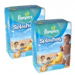 Pack 42 Couches Pampers Swimming Pants Splachers sur auchan