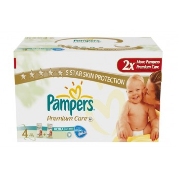102 Couches Pampers New Baby Premium Care taille 4