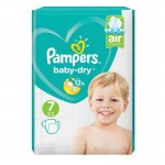 72 Couches Pampers Baby Dry taille 7