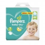 58 Couches Pampers Baby Dry taille 7