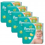 210 Couches Pampers Baby Dry taille 7