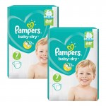 144 Couches Pampers Baby Dry taille 7