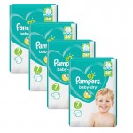216 Couches Pampers Baby Dry taille 7