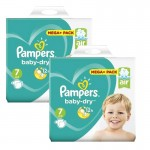 116 Couches Pampers Baby Dry taille 7