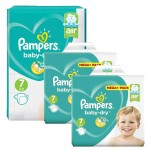 232 Couches Pampers Baby Dry taille 7