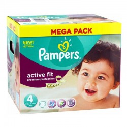 82 Couches Pampers Active Fit - premium protection taille 4