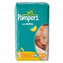 43 Couches Pampers New Baby Dry taille 1