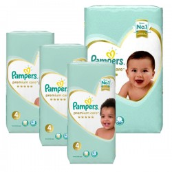 68 Couches Pampers New Baby Premium Care taille 4