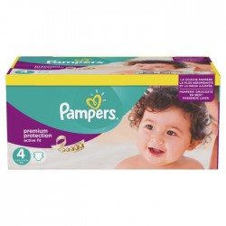 168 Couches Pampers Active Fit taille 4