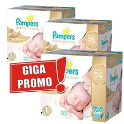 792 Couches Pampers Premium Care taille 1