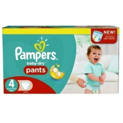 58 Couches Pampers Baby Dry Pants taille 4