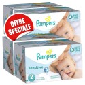 300 Couches Pampers New Baby Sensitive