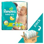 246 Couches Pampers Baby Dry taille 4+