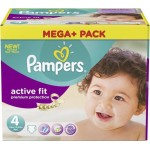 164 Couches Pampers Active Fit Premium Protection taille 4