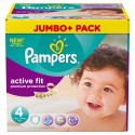246 Couches Pampers Active Fit Premium Protection taille 4