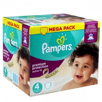 168 couches b/éb/é Couches Pampers Taille 4 active fit premium protection