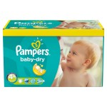 369 Couches Pampers Baby Dry taille 4+