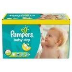 Maxi giga pack de 369 Couches Pampers Baby Dry sur auchan