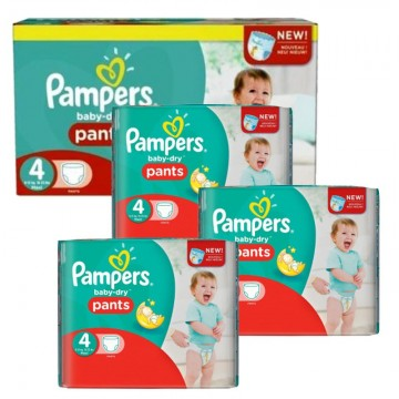 203 Couches Pampers Baby Dry Pants taille 4