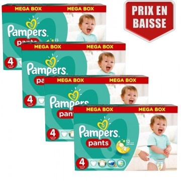 435 Couches Pampers Baby Dry Pants taille 4