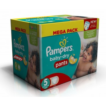 182 Couches Pampers Baby Dry Pants taille 5