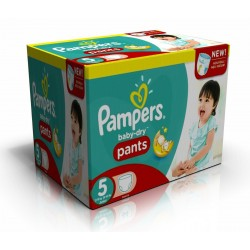 312 Couches Pampers Baby Dry Pants taille 5